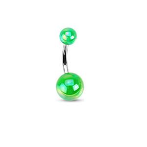 Piercing do pupíku 1103 - Green