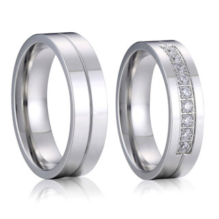 Ocelové snubní prstýnky SPPL018