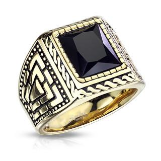 Pánský ocelový pečetní prsten 7159