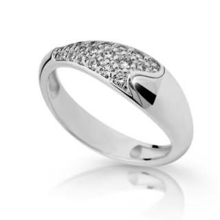 Stříbrný prsten se zirkony 2309