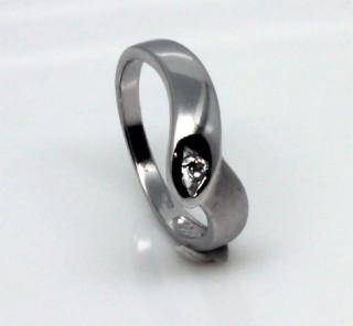 Stříbrný zásnubní prstýnek 0001