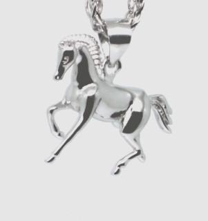 Stříbrný přívěšek na řetízek kůň 307241
