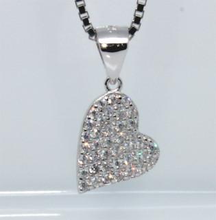 Stříbrný přívěsek srdce 304017