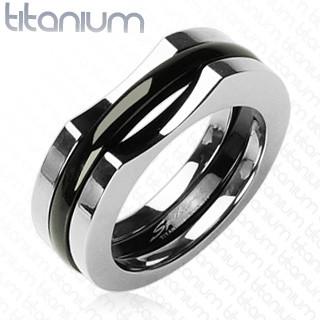 Pánský titanový prsten Spikes 0804
