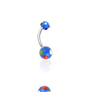 Piercing do pupíku 1622-BLUE