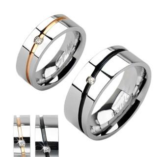 Ocelové snubní prsteny Spikes 1002