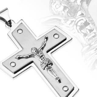 Přívěsek křížek na krk Spikes-SESSP-9972