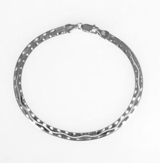 Náramek stříbro 302008