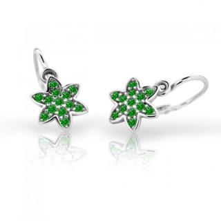 Náušničky pro děti Cutie C2206B-Emerald Green