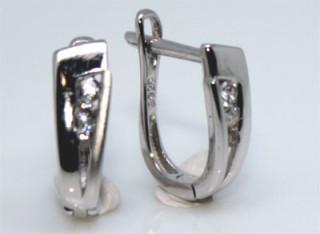 Dámské stříbrné náušnice se zirkony 306058