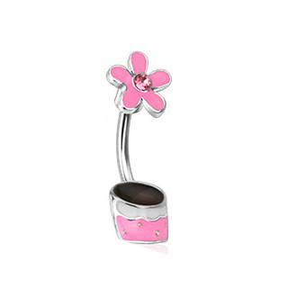 Piercing do pupiku 12773 - Pink