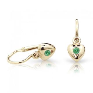 Náušnice pro miminka Cutie C1556Z-Emerald Green