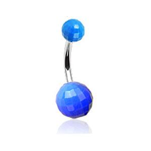 Piercing do pupíku 023-BLUE