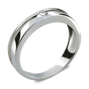 Stříbrný prsten se zirkonem 1710