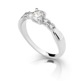 Stříbrný prstýnek se zirkony 2356