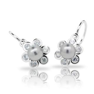 Náušnice Cutie Jewellery C2489 Light grey
