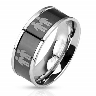 Ocelový prsten 3042-Muž