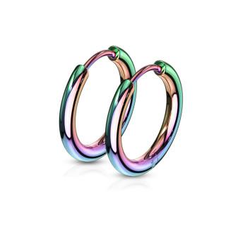 Náušnice kruhy z chirurgické oceli 3065-RW