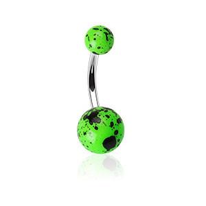 Piercing do pupíku 012-GREEN