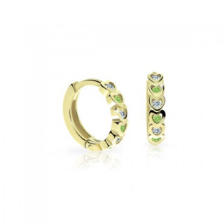 Náušnice pro miminka C3339Z Peridot Green
