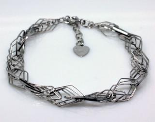 Stříbrný náramek na ruku 303308