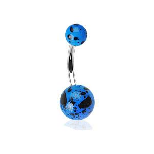 Piercing do pupíku 012-BLUE
