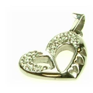 Přívěšek srdce z chirurgické oceli P4113