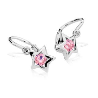 Dětské náušnice Cutie Jewellery C1942B Pink