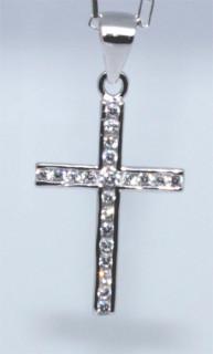 Přívěšek křížek se zirkony 304304