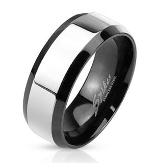 Ocelový pánský prsten 3109