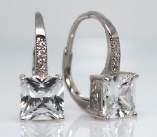 Elegantní dámské náušnice stříbro 304045