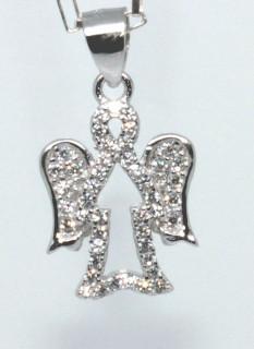 Stříbrný přívěšek anděl 306219