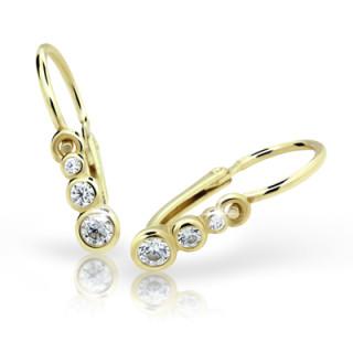 Náušnice pro miminka Cutie Jewellery C2255-Z CZ White