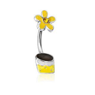 Piercing do pupíku 12773 - Yellow