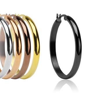 Dámské ocelové náušnice kruhy Spikes-0373