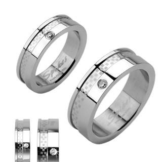 Ocelový prsten Spikes 1005